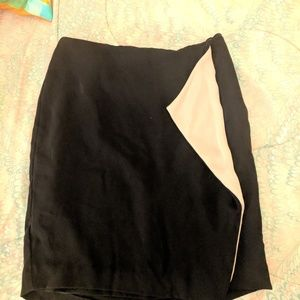 Calvin Klein Black Skirt with Flowy Tan Panel